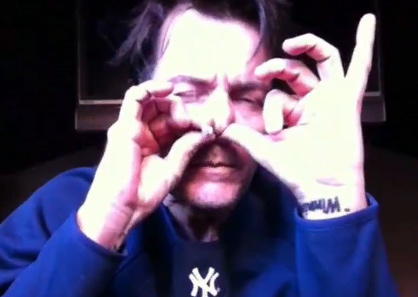 Charlie Sheen smokes a cigarette through his nose while filming his third uStream webcast 'Sheen's Corner Episode 3, Torpedoes of Truth Part 2' on Monday, March 7, 2011.