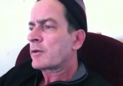 Charlie Sheen appears on episode 2 of 'Sheen's Korner,' his uStream website, on Sunday, March 6, 2011.