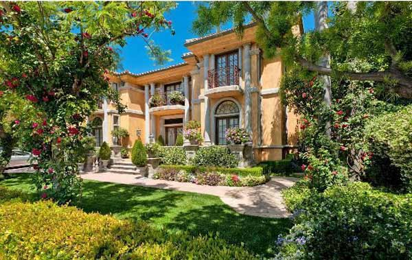 A view of the front of Charlie Sheen's home, which is on the market for $7.2 million.