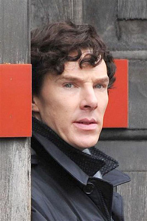 Benedict Cumberbatch is seen on the set of the BBC show &#39;Sherlock&#39; in London on April 13, 2013. <span class=meta>(Rex Features &#47; Startraksphoto.com)</span>