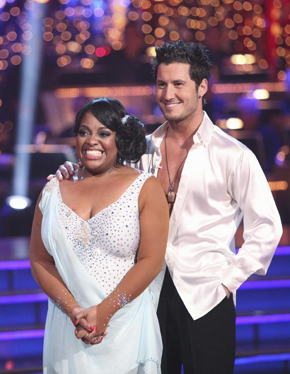 "<div class=""meta ""><span class=""caption-text "">'The View' co-host Sherri Shepherd and her partner Valentin Chmerkovskiy received 24 out of 30 points from the judges for their Rumba on week three of 'Dancing With The Stars,' which aired on April 2, 2012. (ABC Photo)</span></div>"
