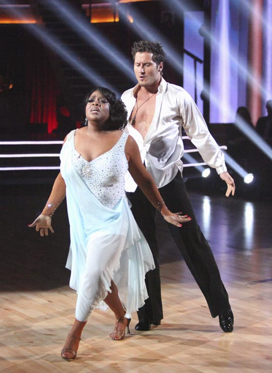 'The View' co-host Sherri Shepherd and her partner Valentin Chmerkovskiy received 24 out of 30 points from the judges for their Rumba on week three of 'Dancing With The Stars,' which aired on April 2, 2012.