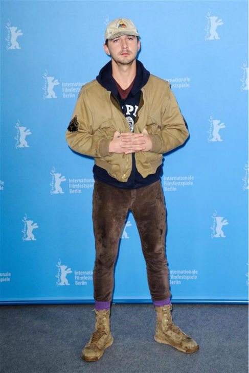 "<div class=""meta image-caption""><div class=""origin-logo origin-image ""><span></span></div><span class=""caption-text"">Shia LaBeouf appears at a photo call for 'Nymphomaniac Volume I' at the Berlin Film Festival on Feb. 9, 2014. He later walked out out a press conference for the movie after responding to one question. (Aurore Marechal / Abaca / Startraksphoto.com)</span></div>"