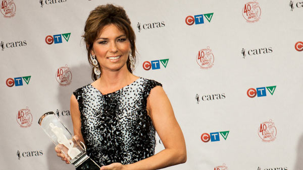 Shania Twain appears at the 2011 Junos.