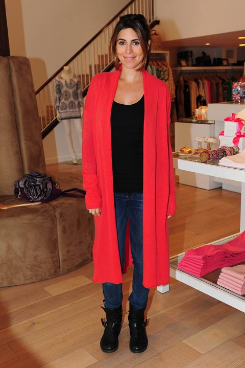 "<div class=""meta image-caption""><div class=""origin-logo origin-image ""><span></span></div><span class=""caption-text"">Pregnant Jamie-Lynn Sigler debuted her baby bump while shopping at resort-wear boutique Calypso St. Barth, which carries many luxury brands, on Feb. 19, 2013 in Los Angeles. A source told OTRC.com that Sigler stocked on Calypso St. Barth's signature Lulu Tunics, cashmere cardigans and maxi dresses. (Michael Williams / StartraksPhoto.com)</span></div>"