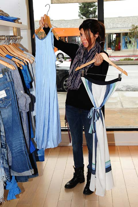 Pregnant Jamie-Lynn Sigler debuted her baby bump while shopping at resort boutique Calypso St. Barth, which carries many luxury brands, on Tuesday, February 19 in Los Angeles.