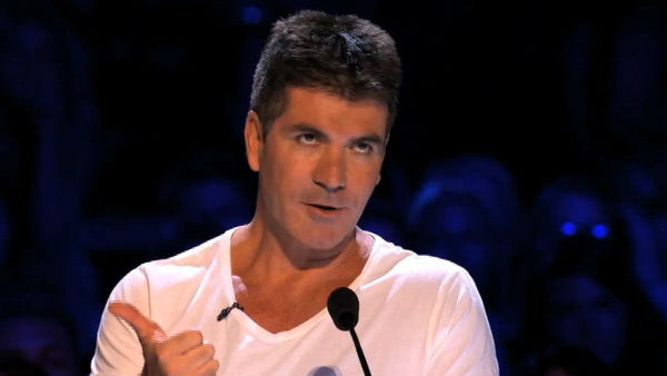 Simon Cowell appears in a still from 'X-Factor.'