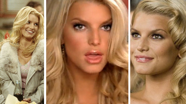 "<div class=""meta ""><span class=""caption-text "">Jessica Simpson has said she had had her lips injected with Restylane to plump them up in 2005.  Pictured: Jessica Simpson appears in a scene from the show 'That 70s Show' in 2003 / Jessica Simpson appears in a scene from her2006 music video 'A Public Affair.' / Jessica Simpson appears in a scene from the 2008 film 'Major Movie Star.' (Carsey-Werner-Mandabach Productions / 20th Century Fox  / BMG Music Entertainment / Major Productions)</span></div>"