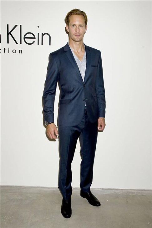 &#39;True Blood&#39; star Alexander Skarsgard appears at the Spring 2014 Calvin Klein Fashion Show during Mercedez-Benz Fashion Week in New York on Sept. 12, 2013. <span class=meta>(Justin Campbell &#47; Startraksphoto.com)</span>