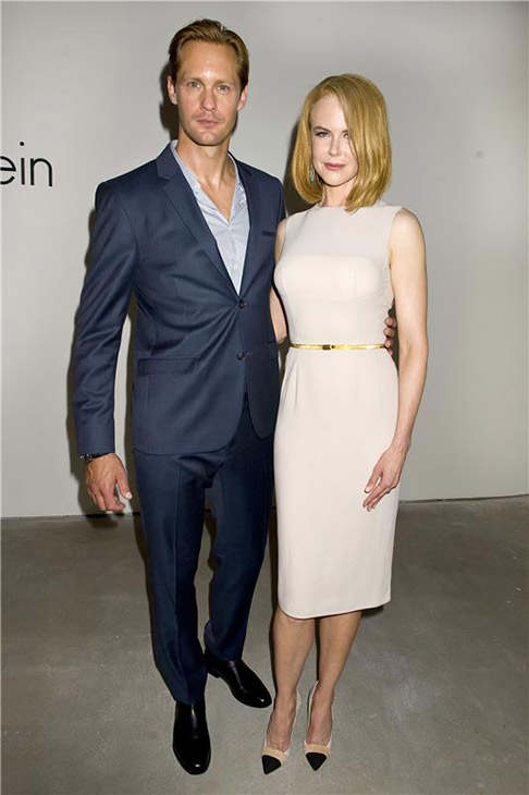 'True Blood' star Alexander Skarsgard poses with actress Nicole Kidman at the Spring 2014 Calvin Klein Fashion Show during Mercedez-Benz Fashion Week in New York on Sept. 12, 2013.