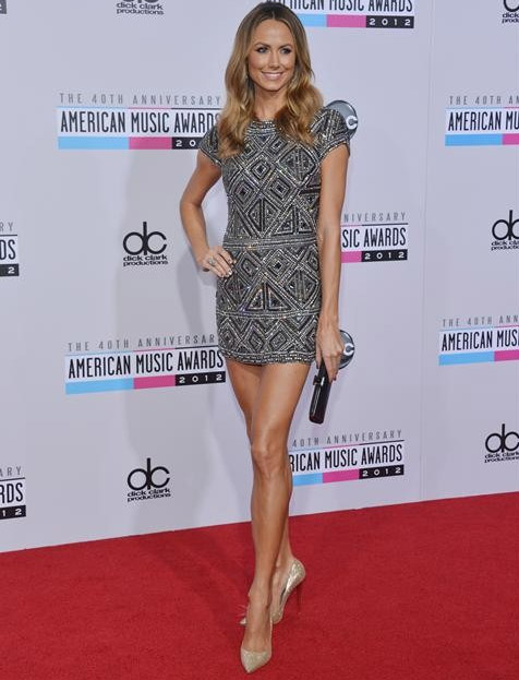 Stacy Keibler appears on the red carpet at the 2012 American Music Awards (AMAs) in L.A. on Nov. 18, 2012.