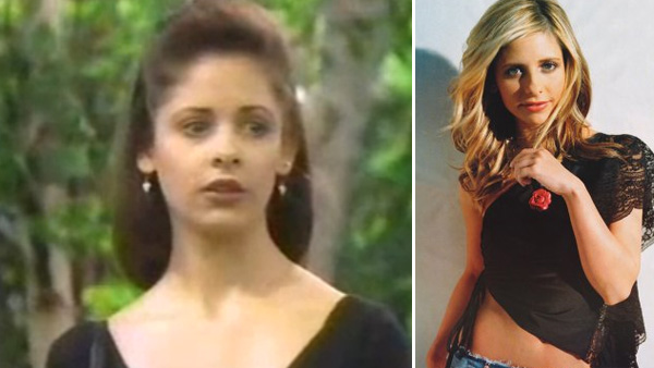 Before she was slaying vampires, &#39;Buffy&#39; star Sarah Michelle Gellar played Kendall Hart Lang on &#39;All My Children&#39; between 1993 and 1995. &#40;Pictured: Sarah Michelle Gellar in a scene from &#39;All My Children.&#39; &#47; Sarah Michelle Gellar in a photo posted on her Facebook page in April 2011.&#41; <span class=meta>(ABC)</span>