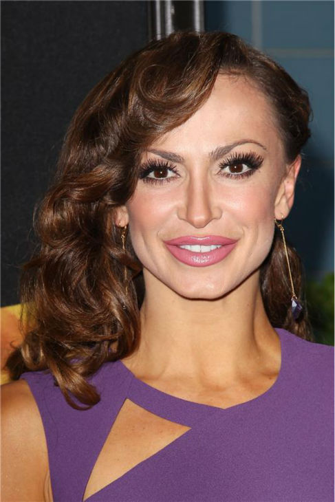 &#39;Dancing With The Stars&#39; cast member Karina Smirnoff attends the premiere of the film &#39;2 Guns&#39; at the SVA Theatre in New York on July 29, 2013. <span class=meta>(Kristina Bumphrey &#47; Startraksphoto.com)</span>