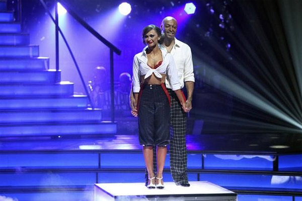 'All My Children' actor and Iraq War veteran J.R. Martinez and his partner Karina Smirnoff appear on the season 13 finale of 'Dancing With The Stars' on Nov. 22, 2011.