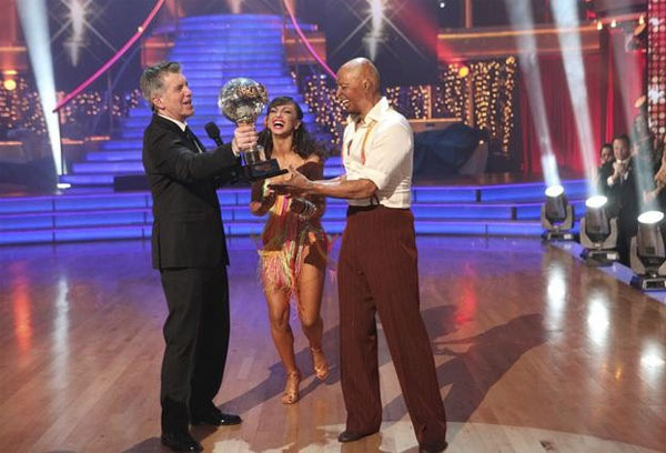 'All My Children' actor and Iraq War veteran J.R. Martinez and his partner Karina Smirnoff react to winning season 13 of 'Dancing With The Stars' on Tuesday, November 22.