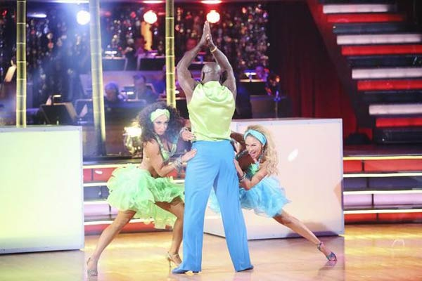 Retired NFL star Emmitt Smith and his dance...