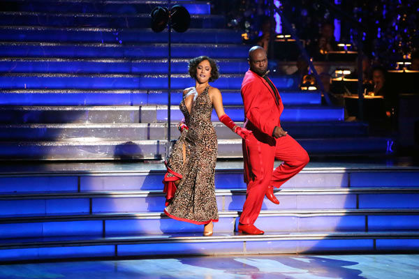 Retired NFL star Emmitt Smith and his partner Cheryl Burke