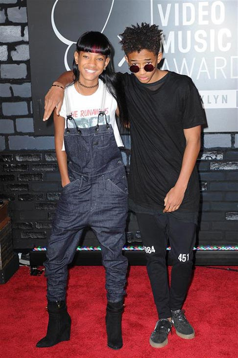 Singer Willow Smith and brother and actor Jaden Smith, children of actors Will Smith and Jada Pinkett Smith, appear at the 2013 MTV Video Music Awards in Brooklyn, New York on Aug. 25, 2013. <span class=meta>(Humberto Carreno &#47; Startraksphoto.com)</span>