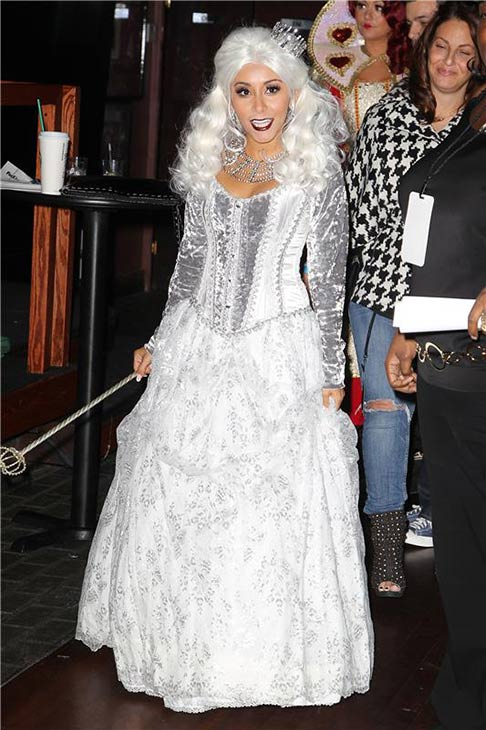 "<div class=""meta ""><span class=""caption-text "">Snooki (Nicole Polizzi) of 'Jersey Shore' and 'Snooki and JWoww' fame attends Night of the Living Drag, a 'RuPaul's Drag Race' Halloween party, at Providence nightclub in New York on Oct. 25, 2013. (Amanda Schwab / Startraksphoto.com)</span></div>"