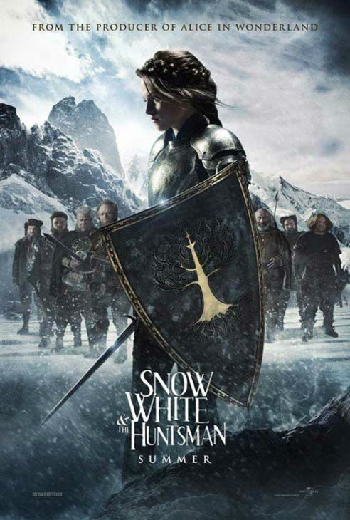Kristen Stewart appears in a promotional poster for 'Snow White and the Huntsman,' which is slated for release on June 1, 2012.