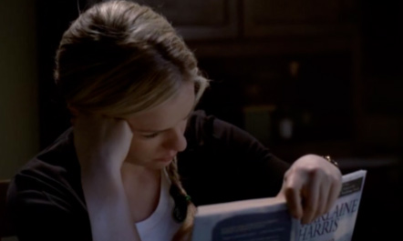 Anna Paquin appears in a scene from HBO's 'True Blood.' Her character, Sookie Stackhouse, is reading a book by Charlaine Harris, creator of the 'The Southern Vampire Mysteries,' which inspired the 'True Blood' TV show.