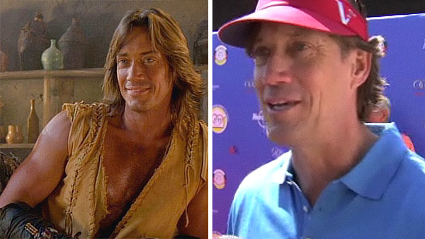 "<div class=""meta image-caption""><div class=""origin-logo origin-image ""><span></span></div><span class=""caption-text"">Kevin Sorbo played half-god Hercules, known for his superhuman strength, on 'Hercules: The Legendary Journeys,' which ran from 1995 to 1999. He also reprised his role on two episodes of the show's spin-off, 'Xena: Warrior Princess.'  Sorbo went on to guest star in shows such as 'Just Shoot Me,' 'Dharma and Greg' and 'According to Jim.' He played Captain Dylan Hunt on the sci-fi series 'Andromeda,' which ran between 2000 and 2005, and portrayed Frank Atwood on the teen drama show 'The O.C.' Sorbo later appeared in movies such as 'Meet the Spartans' in 2008 as well as in various television films. In 2011, he filmed several independent movies. Sorbo enjoys playing golf and can often be seen at charity golf tournaments in Los Angeles.   Sorbo married Sam Jenkins, who played Hercules' love interest Serena on several episodes of 'Hercules: The Legendary Journeys,' in January 1998. Their first child, son Braedon Cooper, was born in August 2001. They welcomed their second boy, Shane Haaken, in March 2004 and their third child, daughter Octavia Flynn, in October 2005. (Pictured: Kevin Sorbo appears in a scene from 'Hercules: The Legendary Journeys.' / Kevin Sorbo talks to OnTheRedCarpet.com in 2011.) (MCA Television/Chesler/Perlmutter Productions)</span></div>"