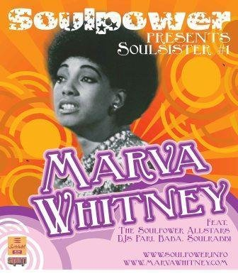 A 2006 Europe tour poster shows a vintage photo of Marva Whitney, as seen in an image posted on the singer's Facebook page.