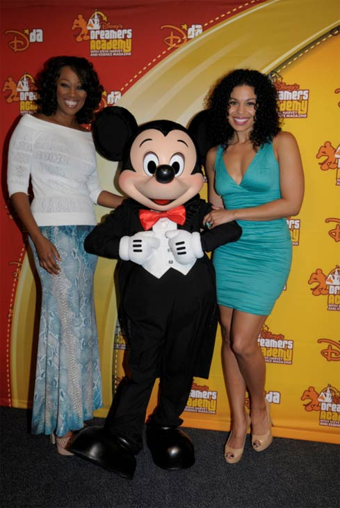 Yolanda Adams and &#39;American Idol&#39; winner Jordin Sparks pose with Minnie Mouse on March 11, 2012 during the fifth annual Disney&#39;s Dreamers Academy with Steve Harvey and Essence Magazine at Walt Disney World Resort in Lake Buena Vista, Flornia. Sparks, who starred with Whitney Houston in the 2012 summer film &#39;Sparkle, served as a speaker during the commencement ceremony. Disney&#39;s Dreamers Academy is a career-inspiration program for 100 U.S. high school students. <span class=meta>(Phelan Ebenhack &#47; Walt Disney World)</span>