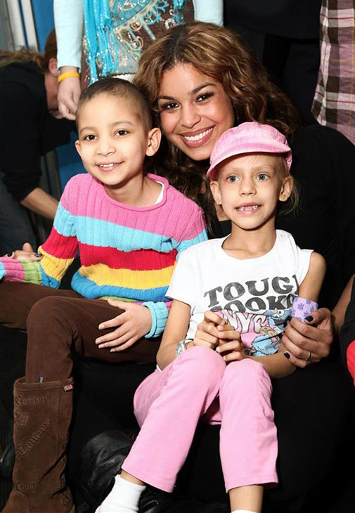 &#39;American Idol&#39; season 6 winner Jordin Sparks poses with new friends at the Ronald McDonald House in New York City on Nov. 10, 2009. She performed there for the residents, which include children and who are seeking treatment for pediatric cancers at city hospitals. <span class=meta>(Sara Jaye Weiss &#47; Startraksphoto.com)</span>