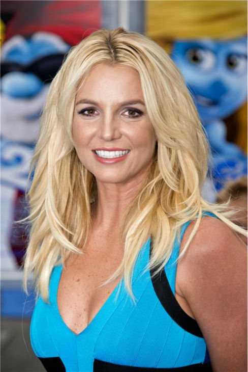 Britney Spears attends the premiere of &#39;The Smurfs 2&#39; at the Regency Village Theatre in Westwood, near Los Angeles, on July 28, 2013. <span class=meta>(Lionel Hahn &#47; Abacausa &#47; startraksphoto.com)</span>