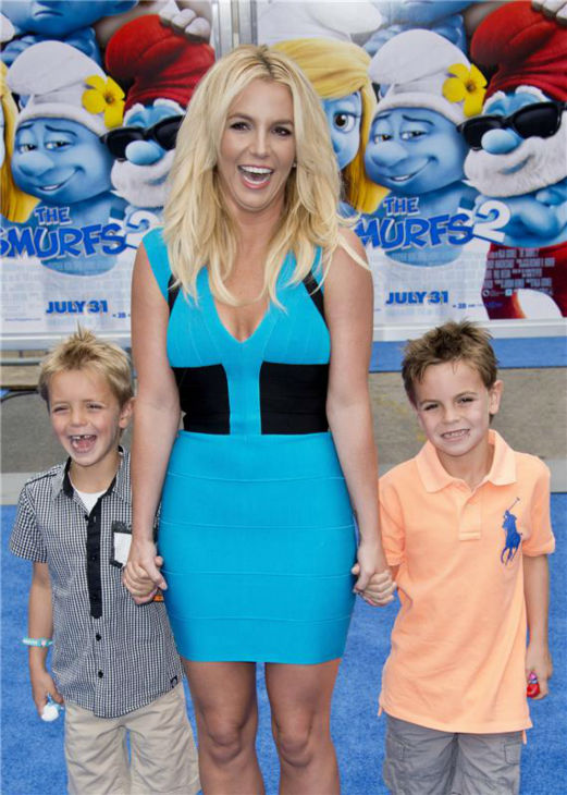 "<div class=""meta image-caption""><div class=""origin-logo origin-image ""><span></span></div><span class=""caption-text"">Britney Spears and sons Sean Preston, 7, and Jayden James, 6, attend the premiere of 'The Smurfs 2' at the Regency Village Theatre in Westwood, near Los Angeles, on July 28, 2013. She contributed the track 'Ooh La La' to the film's sountrack and the boys appear in its music video. (Lionel Hahn / Abacausa / startraksphoto.com)</span></div>"