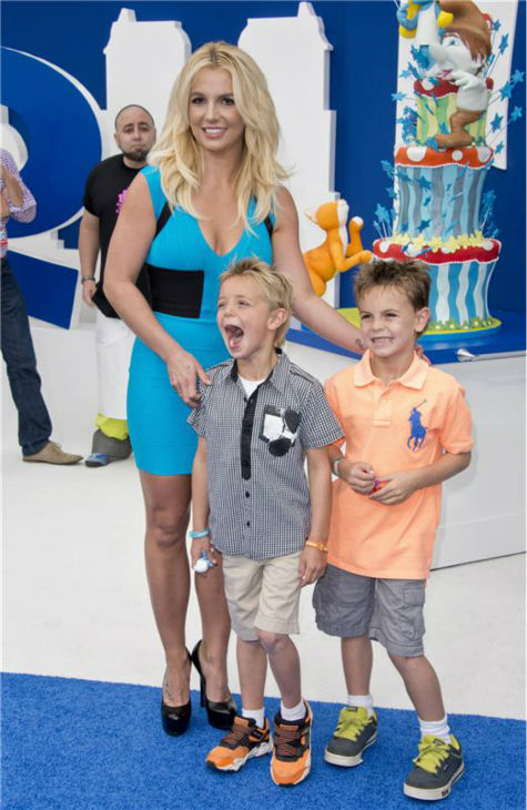 Britney Spears and sons Sean Preston, 7, and Jayden James, 6, attend the premiere of &#39;The Smurfs 2&#39; at the Regency Village Theatre in Westwood, near Los Angeles, on July 28, 2013. She contributed the track &#39;Ooh La La&#39; to the film&#39;s sountrack and the boys appear in its music video. <span class=meta>(Lionel Hahn &#47; Abacausa &#47; startraksphoto.com)</span>