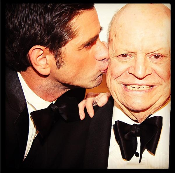 John Stamos said on his Instagram page: 'I'm so happy about today's decision I could kiss a man!' He is seen kissing Don Rickles. Stamos participated in a Friars Club roast of the legendary insult comic at the Waldorf Astoria in New York on June 24, 2013.