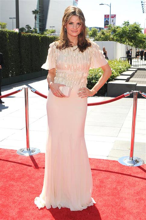 "<div class=""meta ""><span class=""caption-text "">Stana Katic of 'Castle' attends the 2010 Primetime Creative Arts Emmy Awards in Los ANgeles on Aug. 21, 2010. (Sara De Boer / Startraksphoto.com)</span></div>"