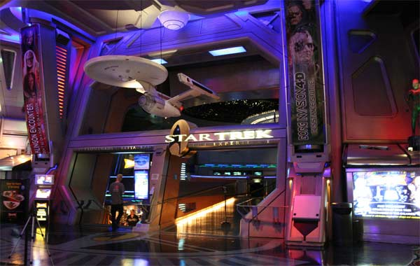 A photo that was taken on Aug. 25, 2008 shows the 'Star Trek Experience' at the Las Vegas Hilton before it closed down.