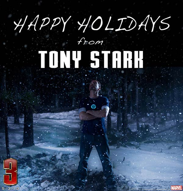 "<div class=""meta ""><span class=""caption-text "">Tony Stark/Iron Man (Robert Downey Jr.) is seen in this holiday photo released by Marvel during Christmas 2012. (Marvel / Walt Disney Pictures)</span></div>"