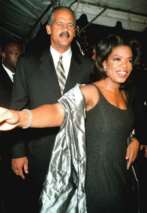 Oprah Winfrey and longtime partner Stedman Graham appear at the premiere of her new movie, &#39;Beloved,&#39; in New York on Oct. 8, 1998. They began dating in the mid-1980s. <span class=meta>(Startraksphoto.com)</span>
