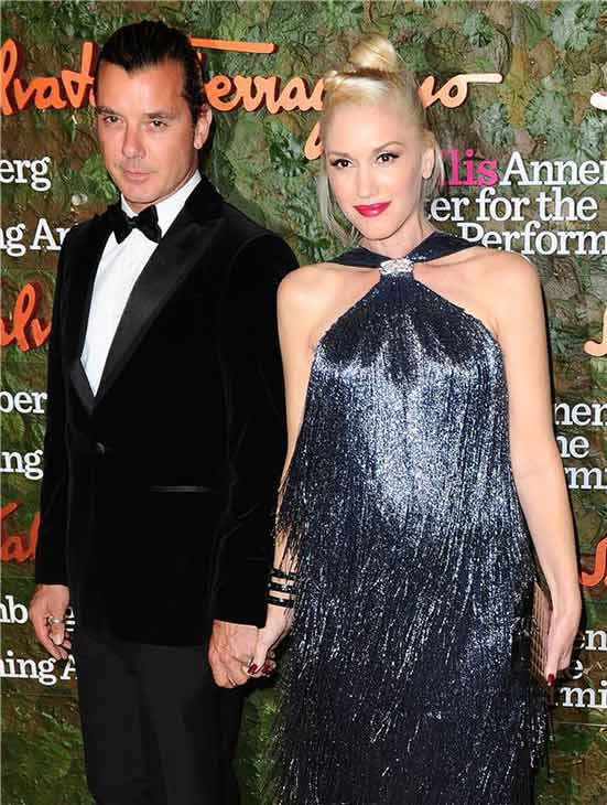 "<div class=""meta image-caption""><div class=""origin-logo origin-image ""><span></span></div><span class=""caption-text"">Gavin Rossdale and Gwen Stefani attend the Wallis Annenberg Center for the Performing Arts Inaugural Gala, presented by Salvatore Ferragamo, at the Wallis Annenberg Center in Beverly Hills on Oct. 17, 2013. (Lionel Hahn / AbacaUSA / Startraksphoto.com)</span></div>"
