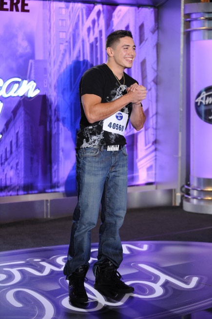 Stefano Langone, a 21-year-old from Kent, WA, was made an 'American Idol' Top 24 finalist. (Pictured: Stefano Langone performs in front of the judges on 'American Idol' on an episode that aired on Feb. 9, 2011.)