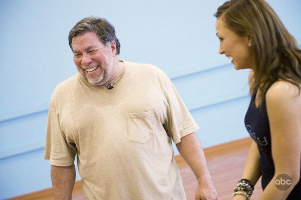 Steve Wozniak appears in a still from 'Dancing...