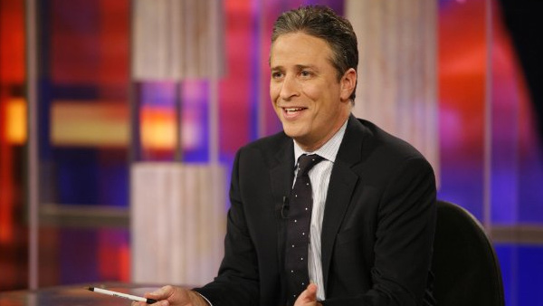 Jon Stewart appears in a photo from his long running talk show 'The Daily Show with Jon Stewart.'