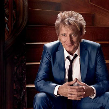 Promotional still of Rod Stewart on his personal...