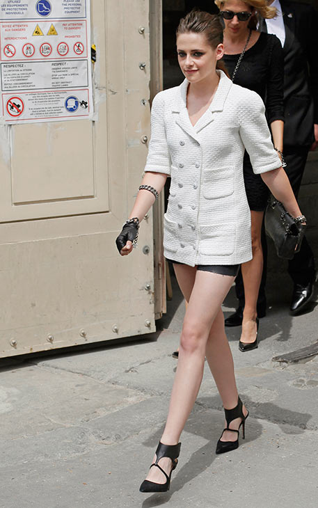 Kristen Stewart leaves after attending Chanel&#39;s Haute Couture Fall-Winter 2013-2014 fashion show, presented on Tuesday, July 2, 2013 in Paris. <span class=meta>(AP Photo &#47; Thibault Camus)</span>
