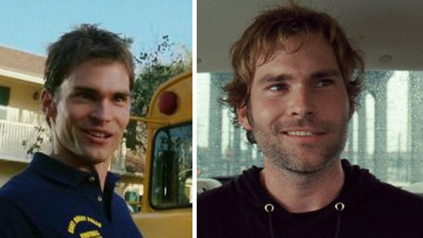 Seann William Scott appears in a scene from 'American Pie' in 1999. / Seann William Scott appears in a scene from the 2010 movie 'Cop Out.'