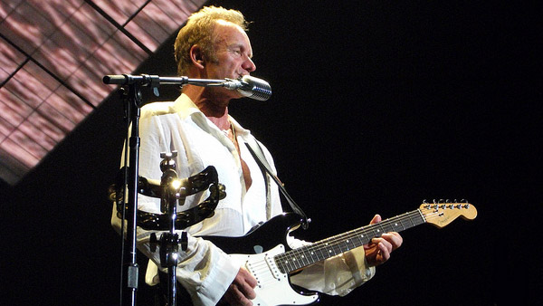 Sting appears in a photo from his performance at the Molson Ampitheater in Toronto on July 23, 2010.