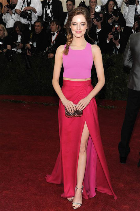 Emma Stone appears at the Metropolitan Museum of Art&#39;s 2014 Costume Institute Benefit gala, celebrating &#39;Charles James: Beyond Fashion,&#39; in New York on May 5, 2014. <span class=meta>(Bill Davila &#47; Startraksphoto.com)</span>