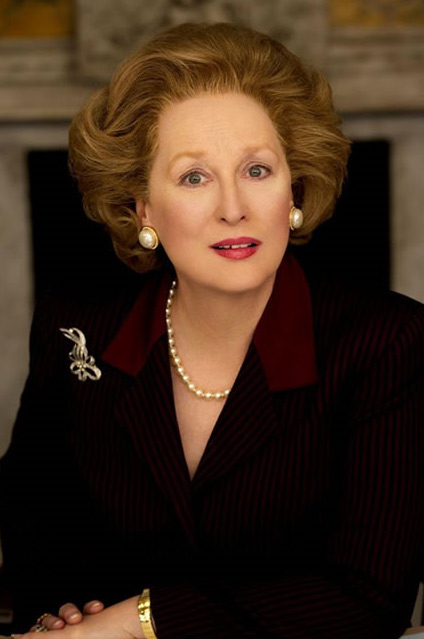"<div class=""meta ""><span class=""caption-text "">Meryl Streep appears in this 2011 promotional photo as Margaret Thatcher for the movie 'The Iron Lady.' (Alex Bailey / Pathe)</span></div>"