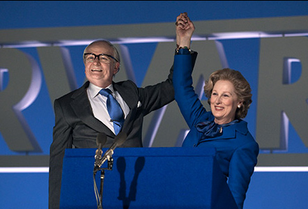 Meryl Streep appears as Margaret Thatcher and Jim Broadbent as Denis Thatcher in a scene from the 2011 movie &#39;The Iron Lady.&#39; <span class=meta>(Alex Bailey &#47; Pathe)</span>