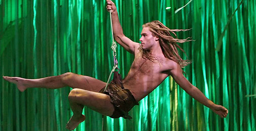 Josh Strickland appears on season 2 of &#39;American Idol&#39; and later went on to play Tarzan in Disney&#39;s Broadway musical &#39;Tarzan&#39; in 2006. The show closed a year later due to poor ticket sales. In 2009, Strickland joined the cast of &#39;Peepshow&#39; in Las Vegas alongside main star Holly Madison, formerly of the E! reality show &#39;The Girls Next Door.&#39; He went on to star in Madison&#39;s spin-off show, &#39;Holly&#39;s World.&#39; <span class=meta>(Richard Rodgers Theatre)</span>