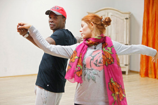 "<div class=""meta image-caption""><div class=""origin-logo origin-image ""><span></span></div><span class=""caption-text"">Sugar Ray Leonard, legendary boxer, and partner Anna Trebunskaya practice their spins during rehearsal for season 12 of 'Dancing with the Stars,' which premieres on March 21 at 8 p.m. on ABC. (ABC Photo/ Greg Zabilski)</span></div>"